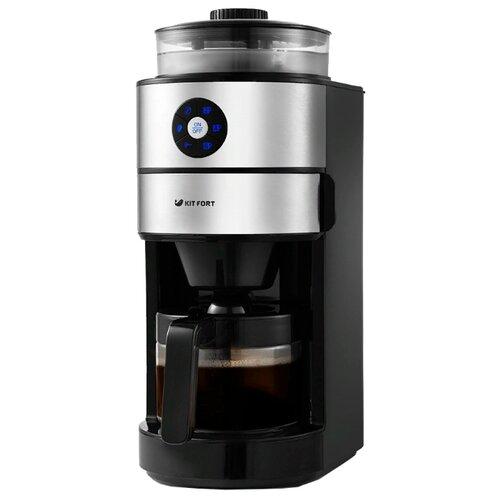 Кофеварка Kitfort KT-716 черный/серебристый