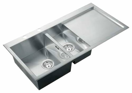 Врезная кухонная мойка KAISER KT2M-1051 100х51см нержавеющая сталь