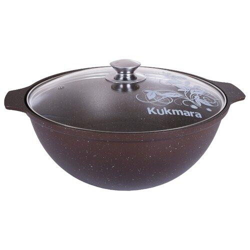 Казан Kukmara кмк37а, коричневый сковорода d 24 см kukmara кофейный мрамор смки240а