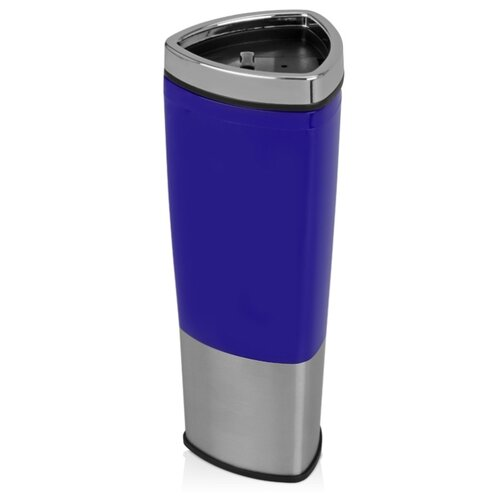 Кружка с термоизоляцией «Пиренеи», синий/серебристый