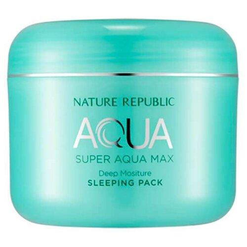 NATURE REPUBLIC Ночная маска Nature Republic Super Aqua Max Combination Watery Sleeping Pack, 100 мл apieu aqua nature тоник