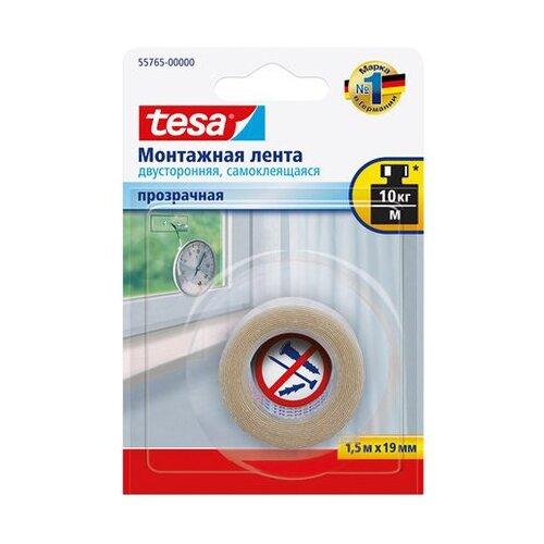 Фото - Клейкая лента монтажная Tesa 55765-00000, 19 мм x 1.5 м клейкая лента малярная tesa 55592 36 мм x 50 м