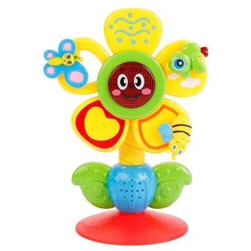 Купить Интерактивная развивающая игрушка Умка Музыкальный Цветок с потешками и песнями В.Шаинского разноцветный, Развивающие игрушки