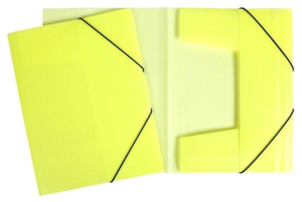 Hatber Папка пластиковая А4 Diamond Neon с клапанами на резинке