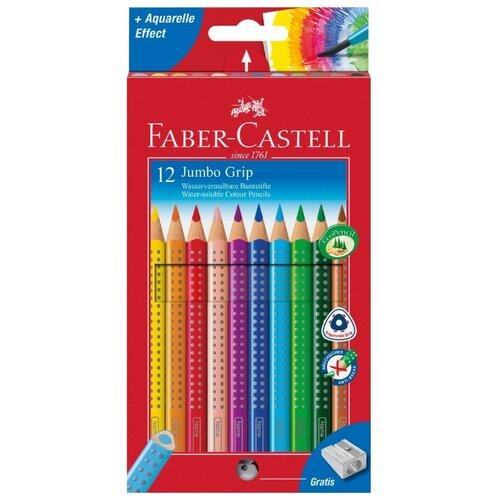 Faber-Castell Цветные карандаши Jumbo Grip 12 цветов (110912) карандаши цветные grip 2001 12 цветов