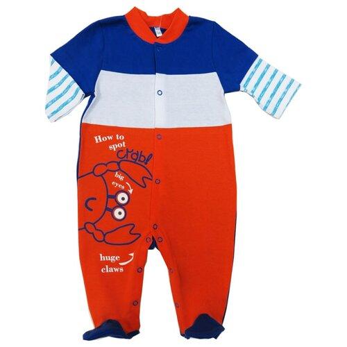 Комбинезон Sonia Kids размер 62, синий/оранжевый