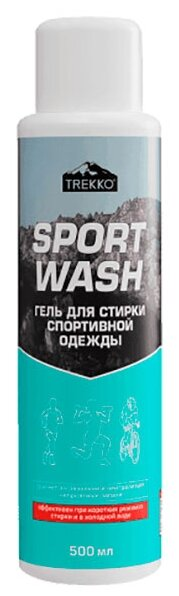 Купить Гель для стирки Trekko Sport Wash для термобелья и спортивной одежды, 0.5 л, бутылка по низкой цене с доставкой из Яндекс.Маркета