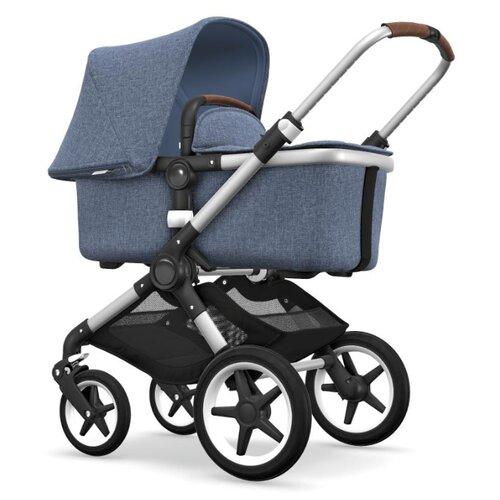 Купить Универсальная коляска Bugaboo Fox (2 в 1) Alu/Blue Melange/Blue Melange, цвет шасси: серебристый, Коляски