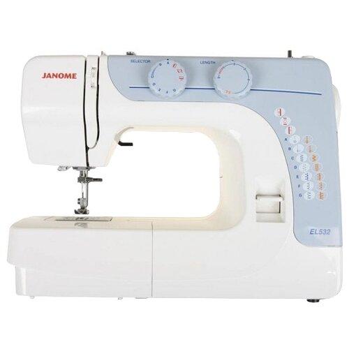 Швейная машина Janome EL530, бело-голубойШвейные машины<br>