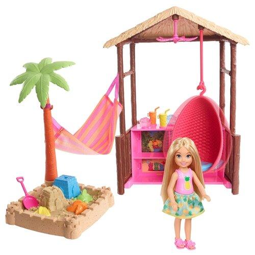 Купить Кукла Barbie Челси с хижиной, 15 см, FWV24, Куклы и пупсы