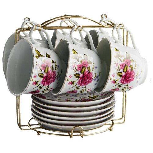 Чайный сервиз Rosario Гармония 12 предметов 220 мл белый/розовый abel pintos rosario