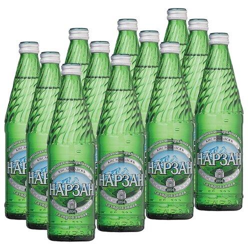 Минеральная лечебно-столовая вода Нарзан газированная, стекло, 12 шт. по 0.5 лВода<br>