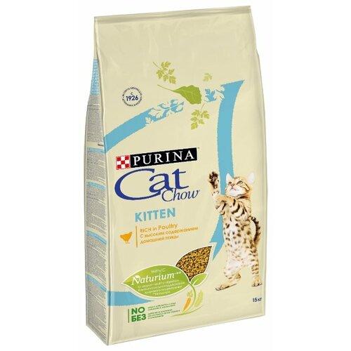 Сухой корм для котят CAT CHOW домашняя птица 15 кг