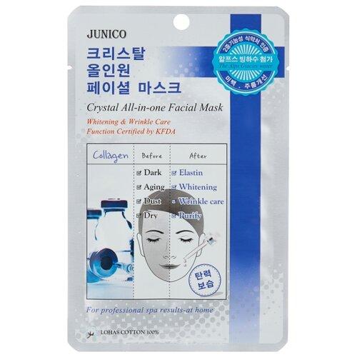 MIJIN Cosmetics тканевая маска Junico Crystal All-in-one с коллагеном, 25 г in cosmetics интернет магазин