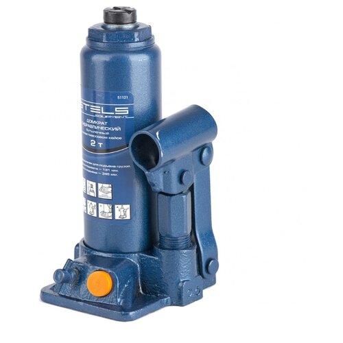 Домкрат бутылочный гидравлический Stels 51121 (2 т) синий