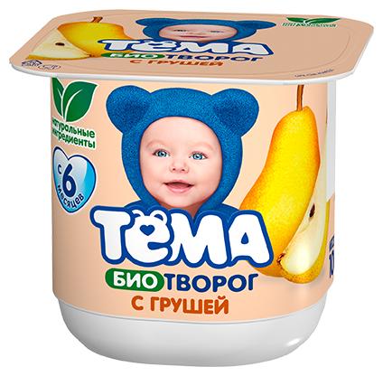 Творог Тема детский груша (с 6-ти месяцев) 4.2%, 100 г