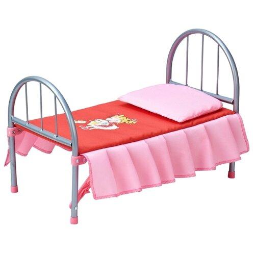 Купить Mary Poppins Кроватка для кукол Карамель (67363) красный/розовый, Мебель для кукол