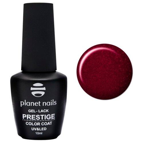 Гель-лак planet nails Prestige, 10 мл, оттенок 546 рубиново-красный с блестками