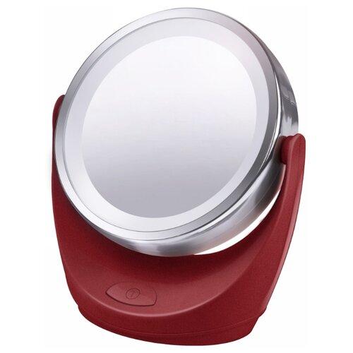 Зеркало косметическое настольное Marta MT-2647 с подсветкой красный рубинЗеркала косметические<br>