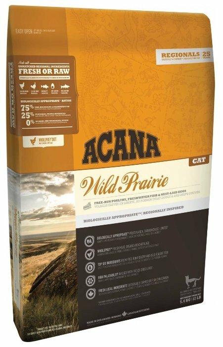 Корм для кошек Acana Regionals Wild Prairie беззерновой, домашняя птица 5.4 кг
