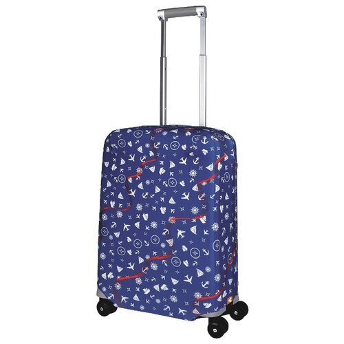 Чехол для чемодана ROUTEMARK Traveler SP240 S, синий чехол для чемодана routemark искры и блестки art lebedev sp310 s фиолетовый