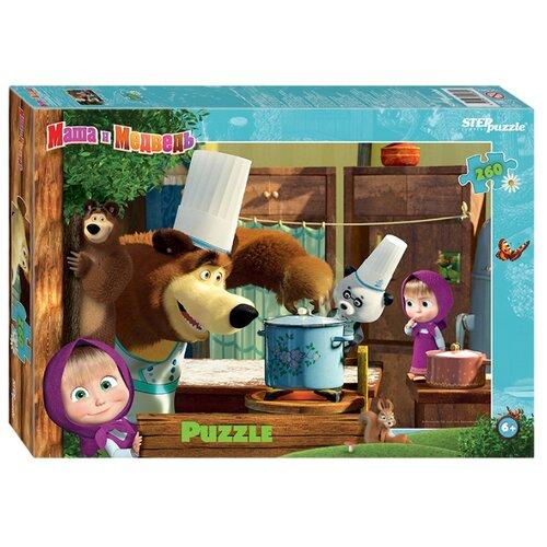 Купить Пазл Step puzzle Анимаккорд Маша и Медведь - 2 (95082), 260 дет., Пазлы