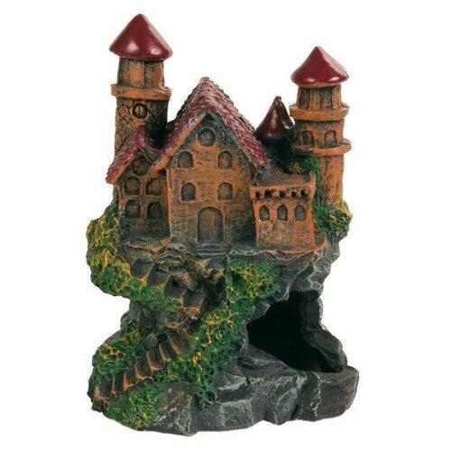 Грот TRIXIE Замок высота 14 см зеленый/коричневый/красный/серый