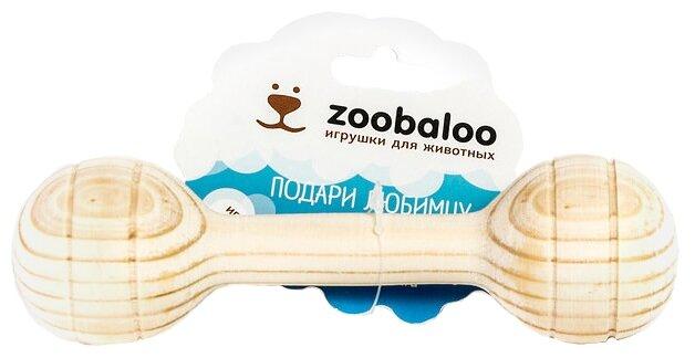 Игрушка для собак Zoobaloo Деревянная кость средняя 17 см