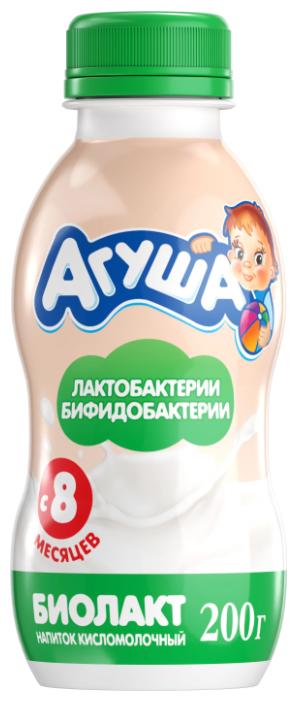 Биолакт Агуша с бифидо и лактобактериями (с 8-ми месяцев) 3.2%, 200 г