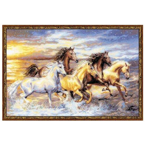 Купить Риолис Набор для вышивания Premium В лучах заката 60 х 40 см (100/038), Наборы для вышивания