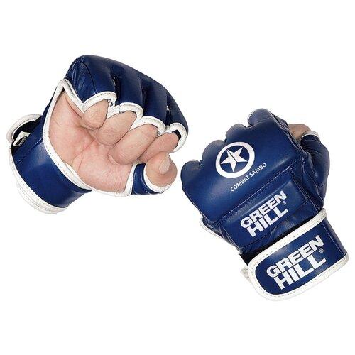 Перчатки Green hill COMBAT SAMBO MMR-0027CS для MMA синий S