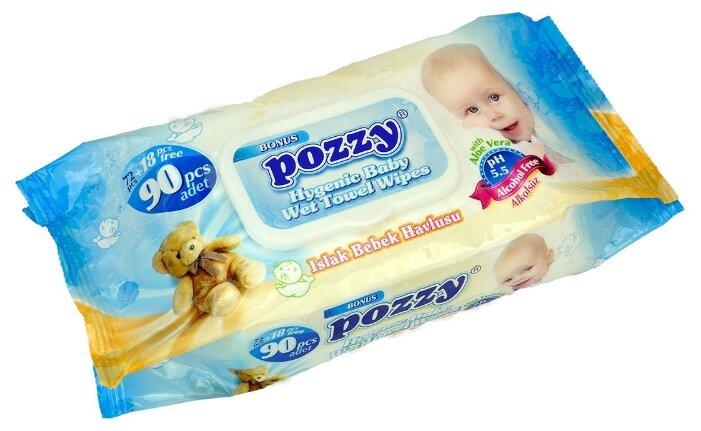 Влажные салфетки Pozzy с алоэ вера