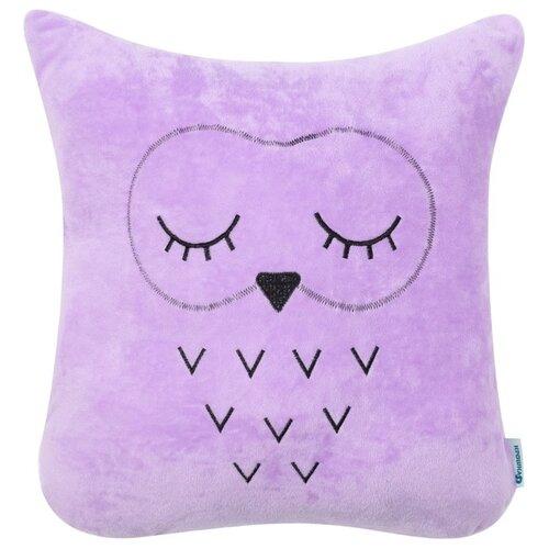 Подушка декоративная Крошка Я Сова (4017381), 48 х 38 см фиолетовый подушка декоративная крошка я буква ш 35 х 22 см синий
