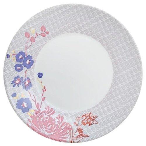 Luminarc Тарелка десертная Covent Garden Alys 22 см белый / розовый тарелка закусочная десертная luminarc nordic epona d 22 см