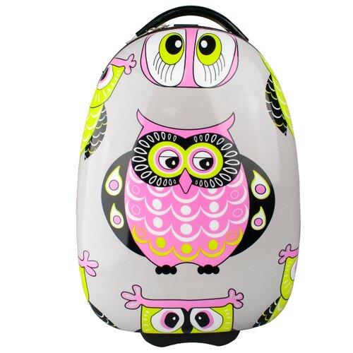 Чемодан PROFFI серый/желтый/розовый чемодан proffi business lady m 63 л розовый