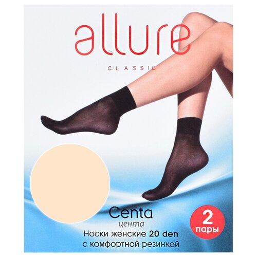 Капроновые носки Centa 20 den набор 2 пары ALLURE caramello универсальный (ALLURE)Носки<br>