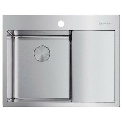 Фото - Врезная кухонная мойка 65 см OMOIKIRI Akisame 65-IN-L нержавеющая сталь врезная кухонная мойка 65 см omoikiri akisame 65 in r нержавеющая сталь