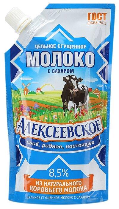 Сгущенное молоко Алексеевское цельное с сахаром 8.5%, 270 г