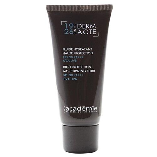 Academie Derm Acte High Protection Moisturizing Fluid Увлажняющая защитная эмульсия SPF 30 для лица, шеи и области декольте, 40 мл
