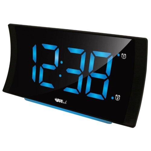 Часы настольные BVItech BV-432 черный/синий