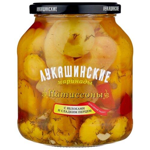 Патиссоны с яблоками и сладким перцем ЛУКАШИНСКИЕ стеклянная банка 670 г
