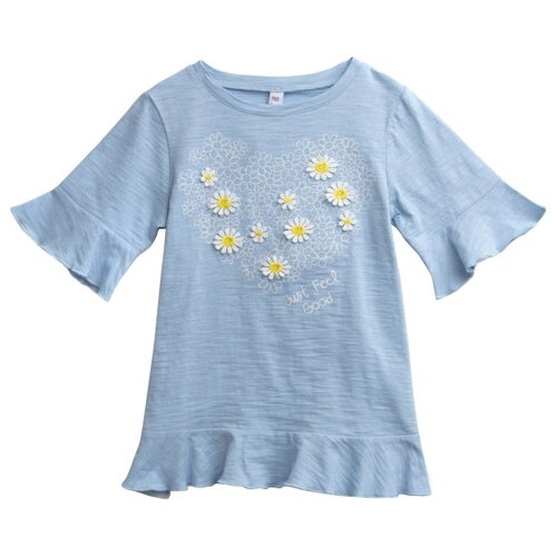 Купить Туника playToday размер 128, голубой, Футболки и майки