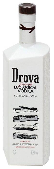 Водка Drova Очищена Березовым Углем, 0.5 л