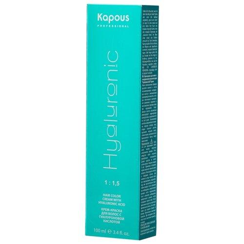 Kapous Professional Hyaluronic Acid Крем-краска для волос с гиалуроновой кислотой, 6.1, Темный блондин пепельный, 100 мл kapous professional hyaluronic acid крем краска для волос с гиалуроновой кислотой 7 81 блондин карамельно пепельный 100 мл