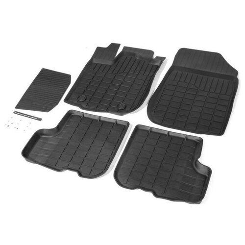 Комплект ковриков RIVAL 64703001 5 шт. черный