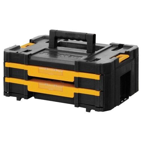 Органайзер DeWALT TSTAK DWST1-70706 44x31x18 см черный/желтый ящик для инструмента dewalt tstak tstak v dwst1 71194 с органайзером модульной системы хранения dwst1 71194