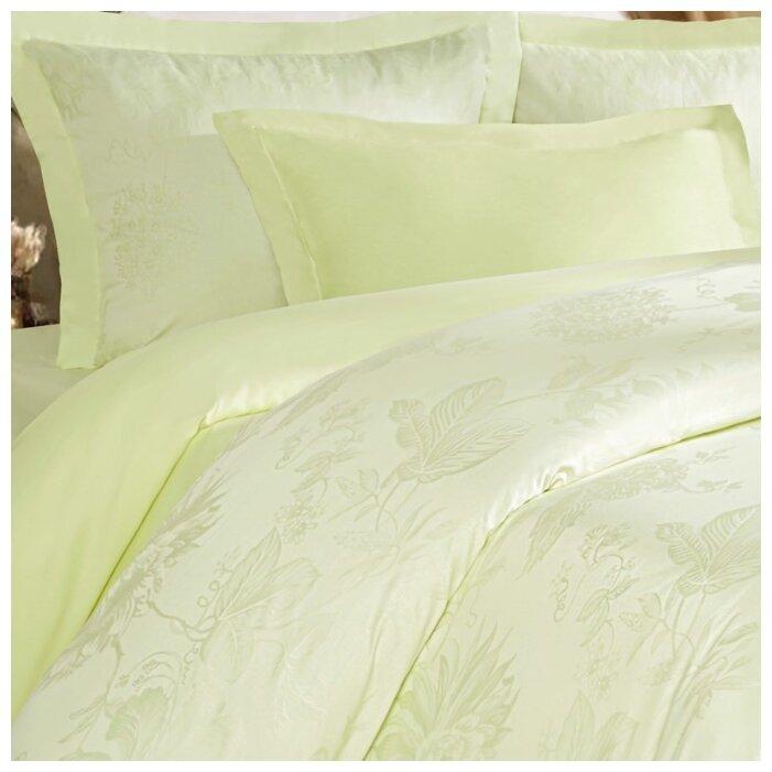 Постельное белье 2-спальное Mona Liza Royal Пион салатовый 5438/03 сатин-жаккард салатовый