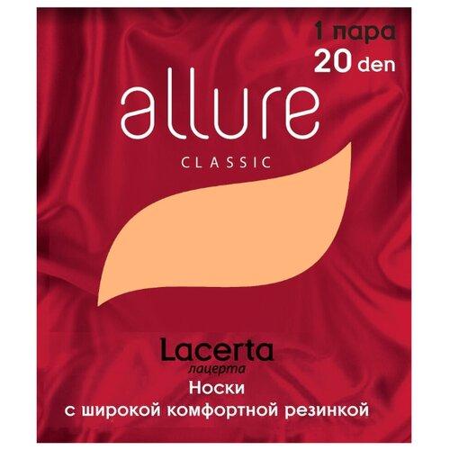 Капроновые носки Lacerta 20 den 1 пара ALLURE glase универсальный (ALLURE)Носки<br>