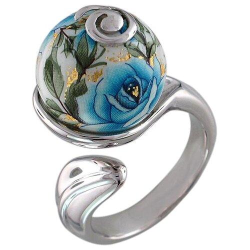 Эстет Кольцо Цветы безразмерное из серебра А10К05A411L, размер 17