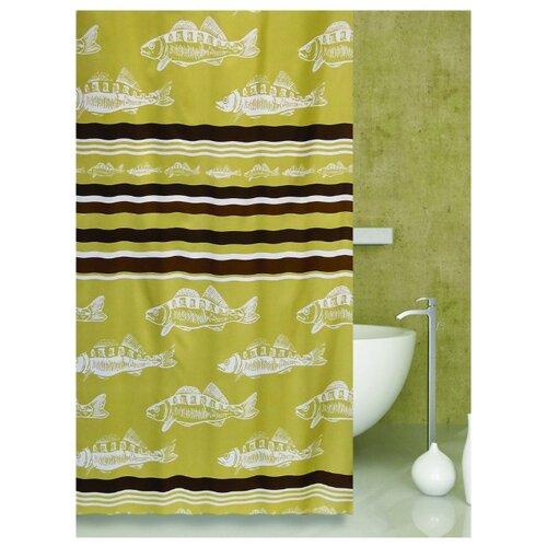 Штора для ванной Bath Plus Floating 180х200 бежевый штора для ванной joyarty глаз в цветочном узоре 180х200 sc 19372
